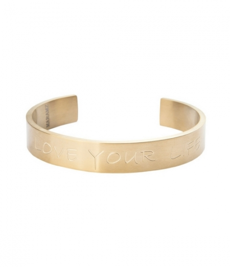 PULSERA ORO LOVE YOUR LIFE